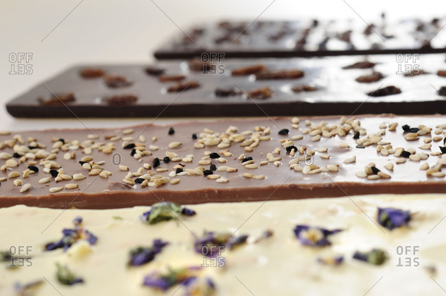 Chocolates, different varieties and flavors,