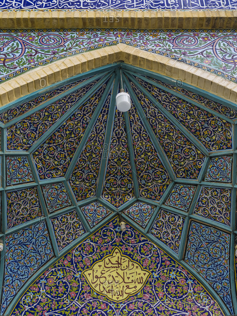 Architectural detail of a mosque in Shiraz