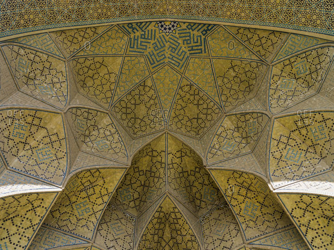 Ceiling detail, Imam Mosque in Isfahan