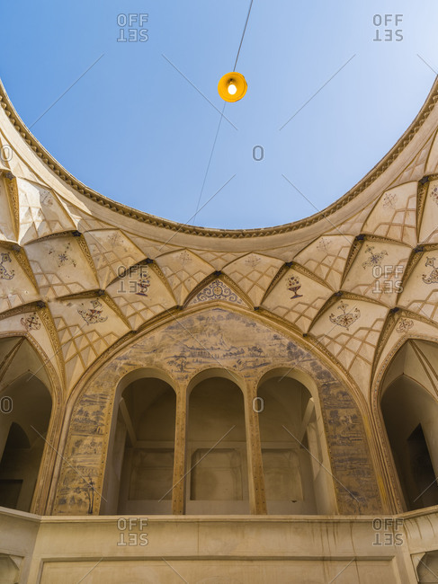 Inner courtyard of a historical residential house in Kashan