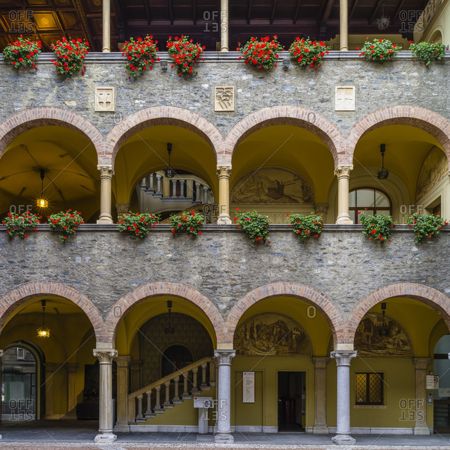 Inner courtyard of the Palazzo Civico in Bellinzona