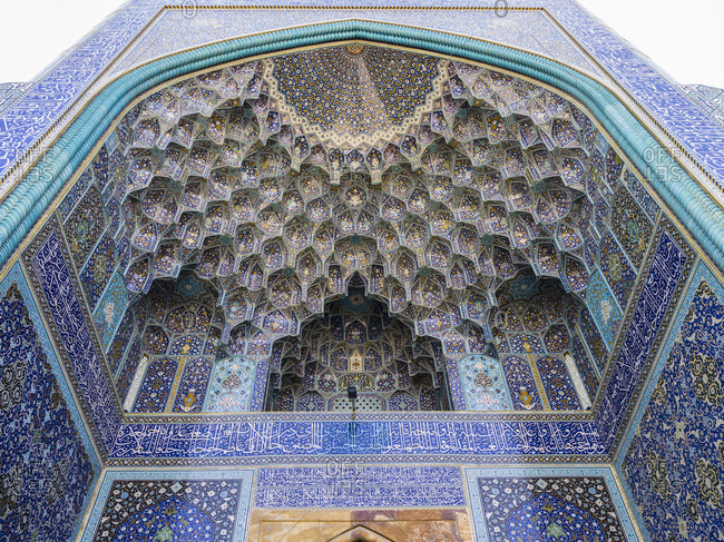 The huge entrance of Imam Mosque in Isfahan
