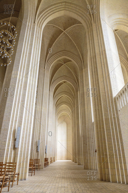 The southern aisle of the Grundtvigs Church, Europe, Denmark, Copenhagen,