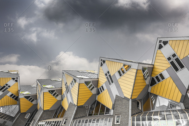Cube houses designed by Piet Blom in Rotterdam