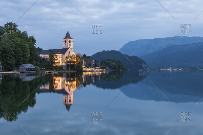 St. Wolfgang on the Lake Wolfgang, Salzkammergut, Upper Austria, Austria, Europe