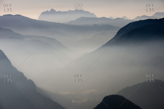 , Alps, autumn haze, view from Predigtstuhl