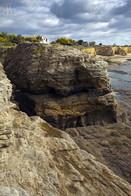 French cliff coast of the Armorican massif