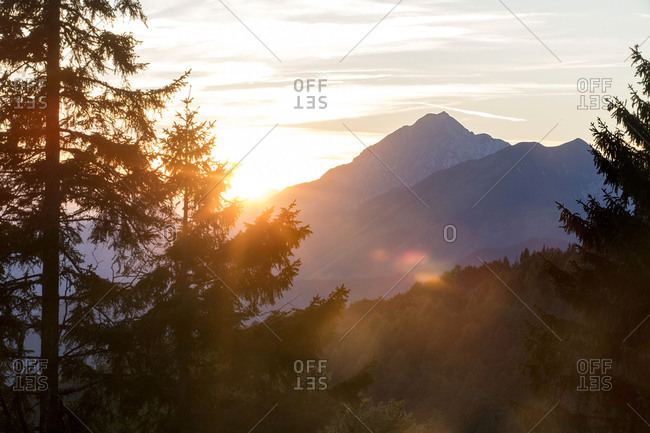 View from Krvavec to other mountains in Slovenia