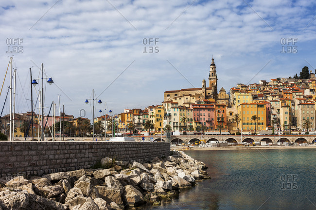 France-  Provence-Alpes-Cote d'Azur- Menton- Old town