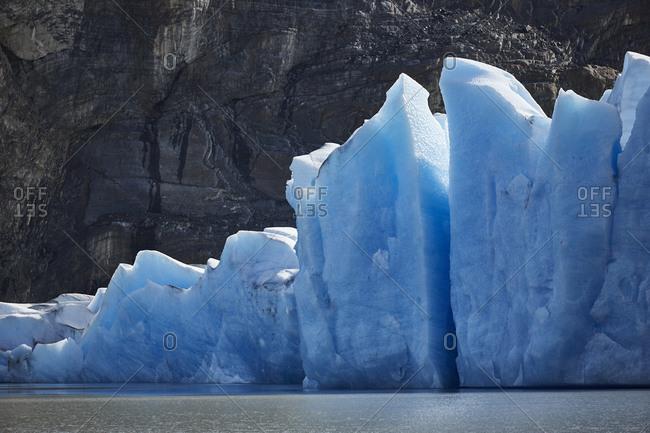 South America- Chile- Torres del Paine National Park- Grey Glacier at Lago Grey