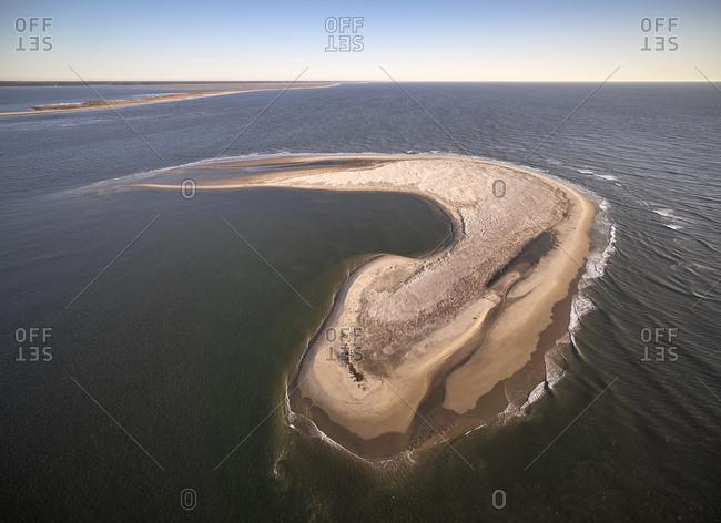 USA- Virginia- Aerial view of Virginia Coast Reserve- Atlantic Ocean- Island
