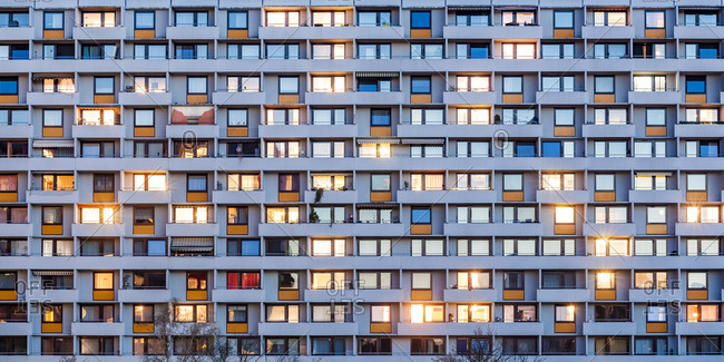Germany- Stuttgart- Hallschlag- partial view of apartment tower