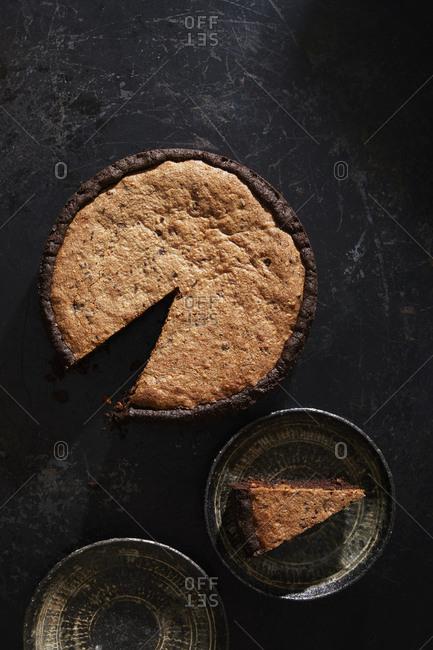 Chocolate buckwheat pie