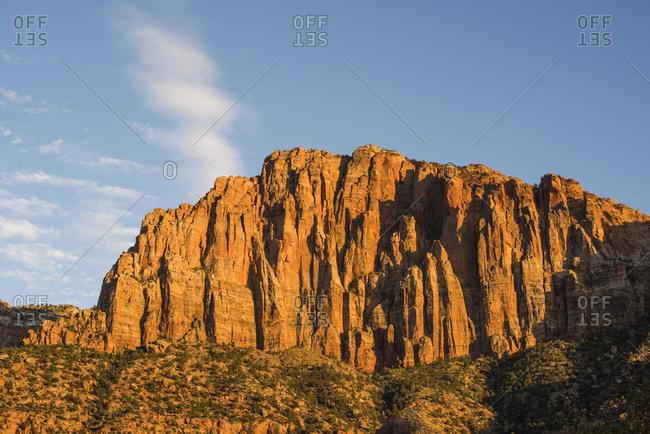 Angel's landing in Zion National Park, Utah