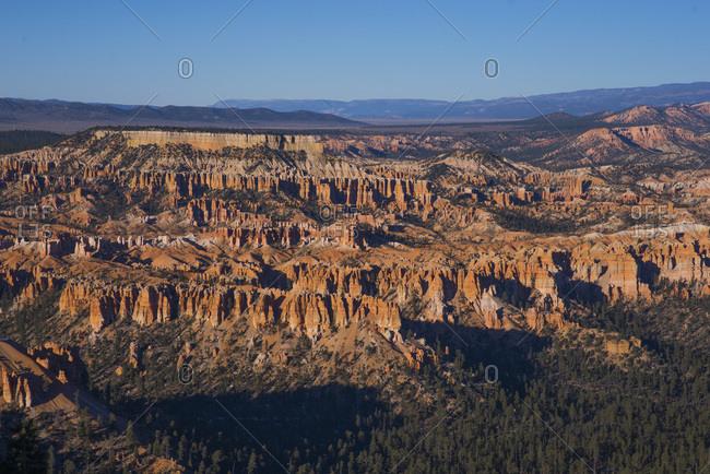 Vast view of Zion National Park, Utah at sunrise