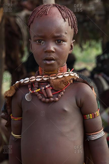 Ethiopia - NOVEMBER 25, 2014: Cute african child