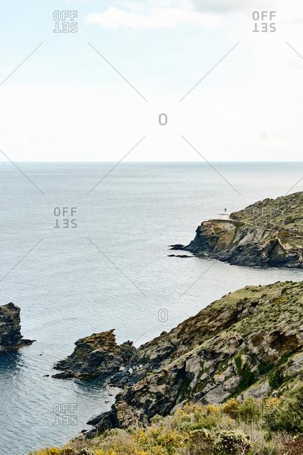 Scenic hillsides on Spanish coast