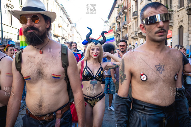 Milan gay pride, black cock whitew girls