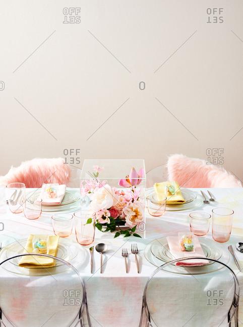 Pastel Wedding Table Setting