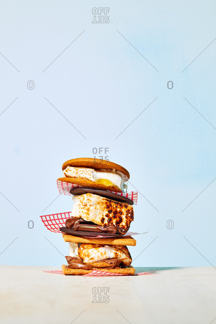 Three S'Mores in Stack