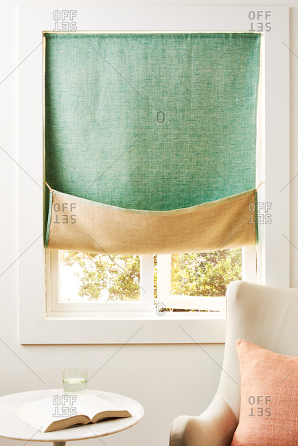 Reading corner with Reversible Linen Curtain