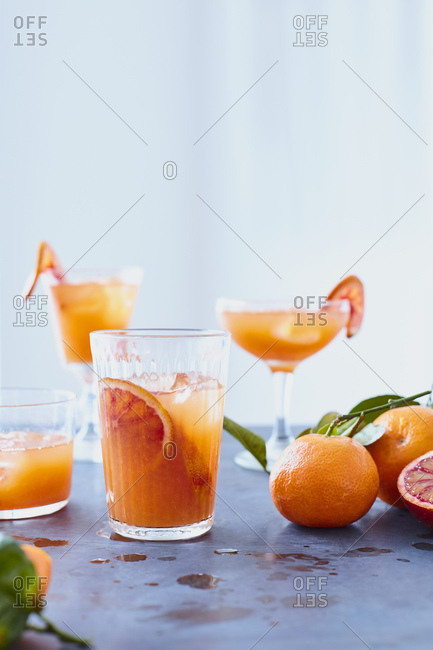 Clementine Cocktail on Zinc