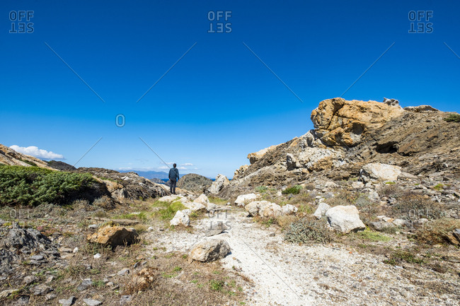 In Cap de Creus, recovered landscape of the Costa Brava, Catalonia, Spain