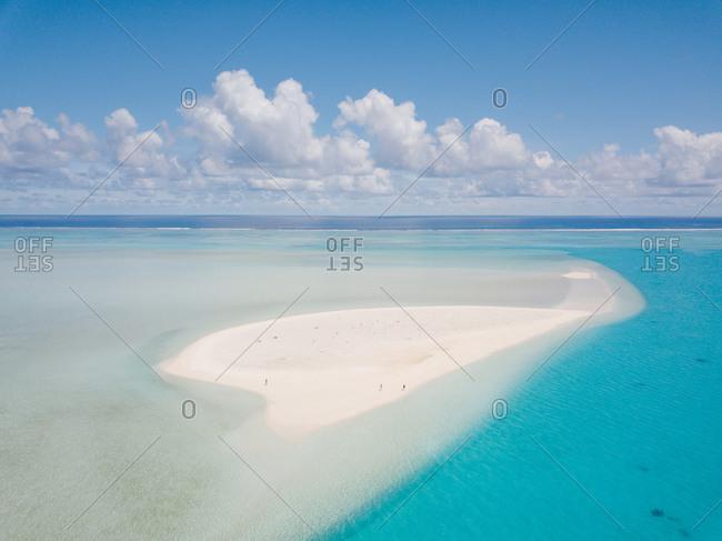 Scenic view of the coast of Aitutaki, Cook Islands