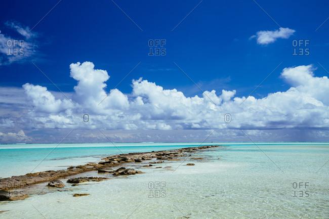 Cloudy skies over Aitutaki, Cook Islands