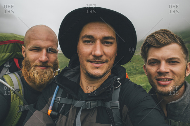 Group of travellers taking a selfie