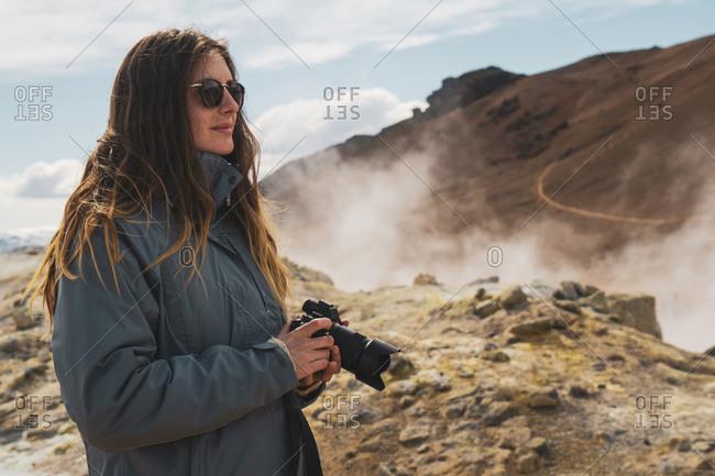 Iceland- Hverarond field- female photographer