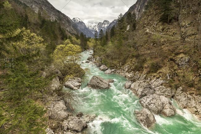 Slovenia- Goriska- Soca river - Offset