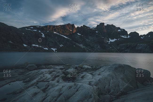 Norway- Lofoten- Moskenesoy- Krokvatnet lake