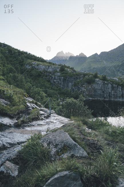 Norway- Lofoten- Moskenesoy- Agvatnet lake