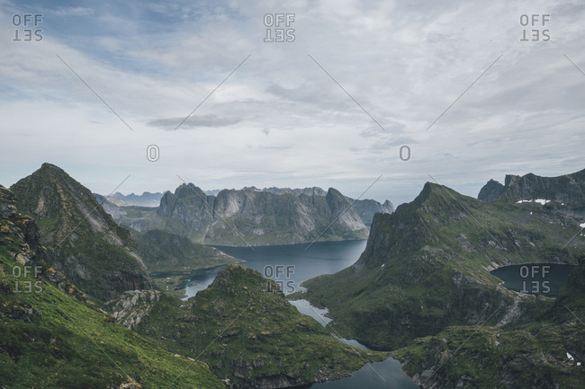 Norway- Lofoten- Moskenesoy- Hermannsdalstinden and Kjerkefjord