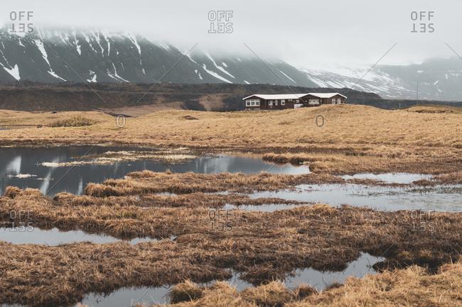 Iceland- landscape with single house