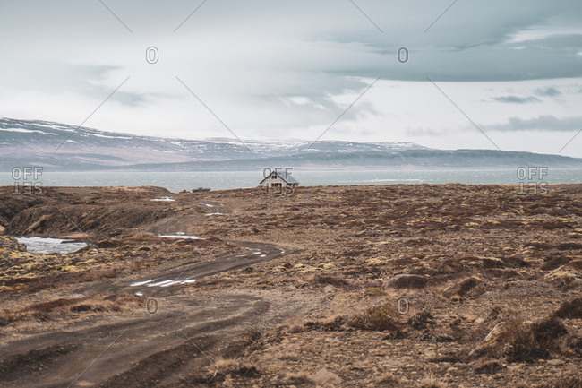 Iceland- landscape with single house