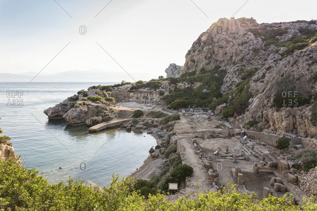 Greece- Gulf of Corinth- Loutraki- Heraion of Perachora- ancient excavation site