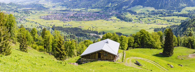 Germany- Bavaria- Oberallgaeu- Oberstdorf- mountain hut