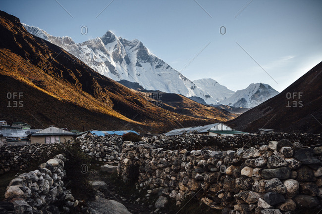 Scenic view of mountains against clear sky at Sagarmatha National Park