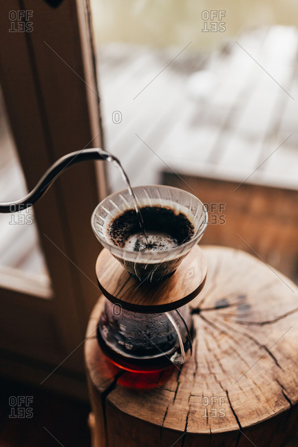 Coffee pouring to jug