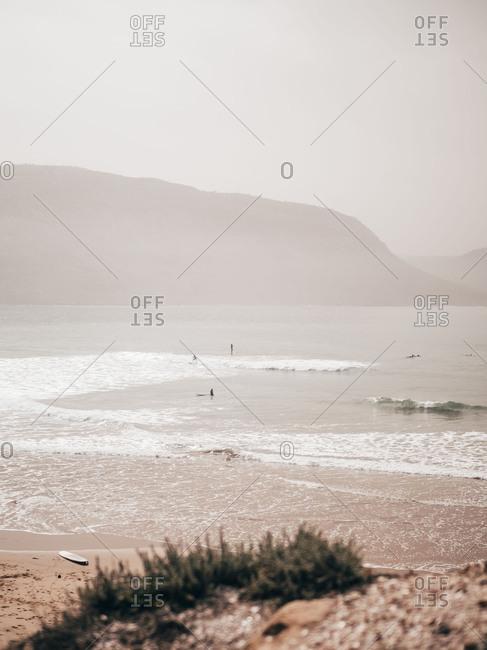 People surfing in ocean