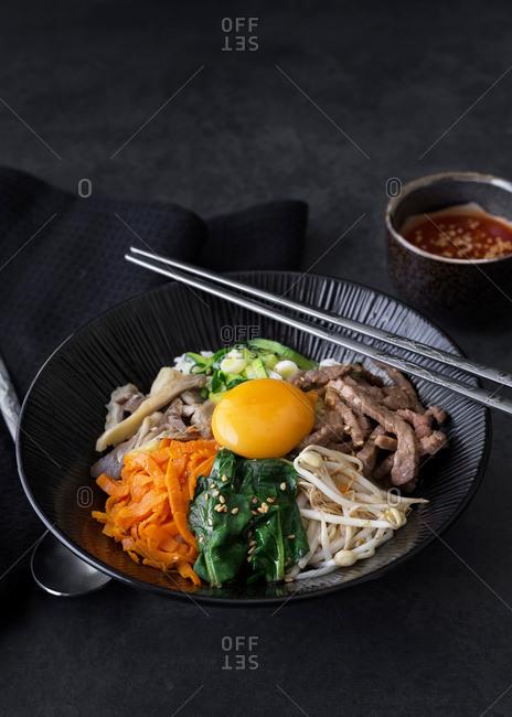 Korean bibimbap Asian cuisine
