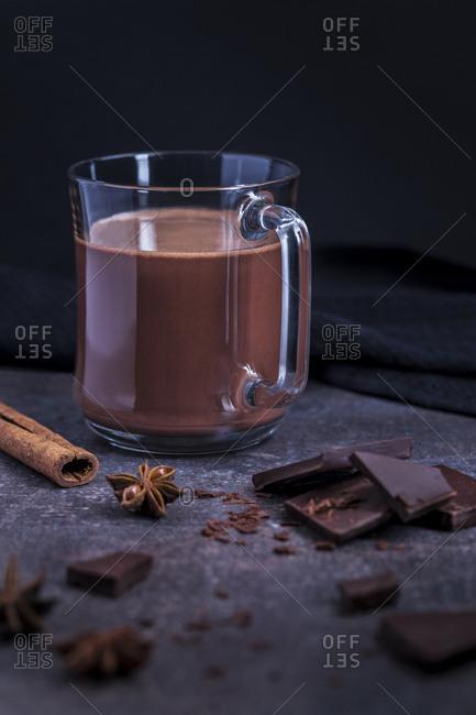 Chocolate milkshake with cinnamon - Offset