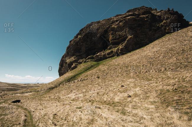 Huge rock in beautiful hills