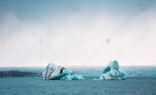 Amazing landscape of cold sea
