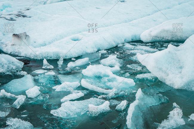 Amazing landscape of cold sea