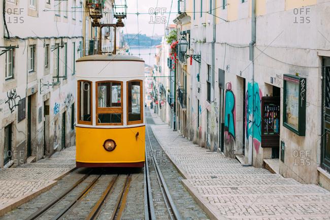 April 14, 2018:Tram in Lisbon, Portugal