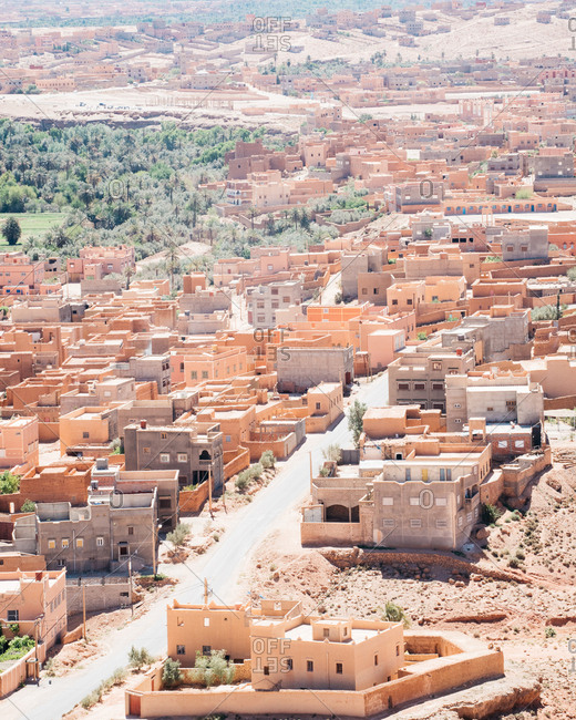 Mud houses in Ouarzazate, Morocco