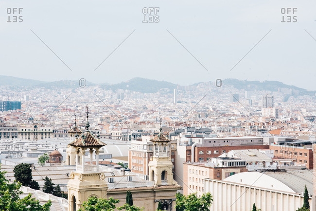 Views of Barcelona from jardins